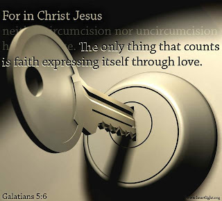 For in Christ Jesus neither Circumcision nor uncircumcision. The only thing that counts is faith expressing itself through love. picture with key wallpaper