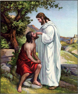Jesus Christ miracle healing the blind man and he got eyes Christian religious hq(hd) wallpaper