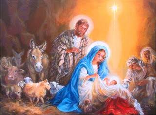 Baby Jesus with mother mary and animals, people drawing art hd(hq) religious Christian wallpaper
