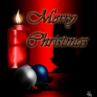 Merry Christmas wishes and Christmas decoration with Candles and Christmas baubles image free Christmas Christian download
