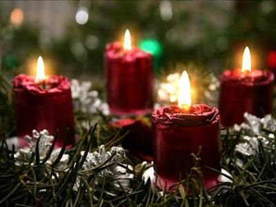 Beautiful bright glowing Christmas candles desktop hd(hq) free download Christian Christmas wallpaper