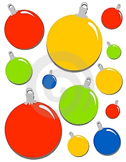 Christmas bauble decorations and Christmas balls decoration clip art picture for Christmas Christian downloads for free