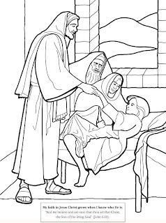 Bible verse about the miracle of Christ, healing the sick daughter of Jairus coloring page picture download free religious photos
