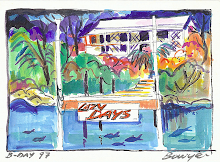 Watercolor of our home Lazy Days