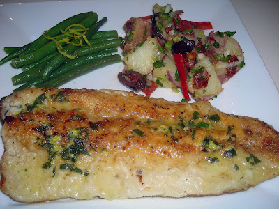 Trout with Lemon Sage Butter Sauce and Provencal Potato Salad