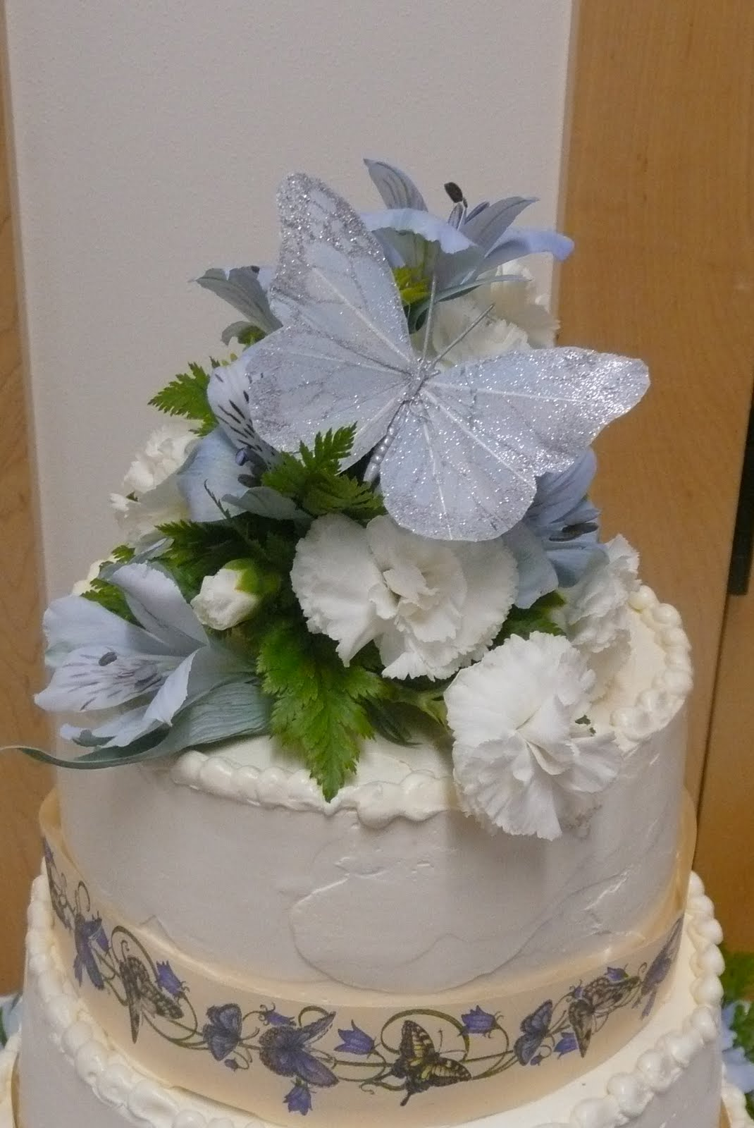 scratchbaker butterfly wedding cake