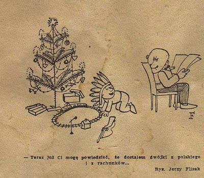 Jerzy Flisak satyra rysunkowa z gazet