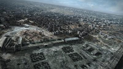 miasto ruin zdjęcia lotnicze zburzonej Warszawy