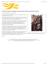 Boris Johnson threatens to cripple London by touting for Big Business CROSSRAIL