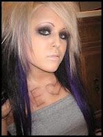coiffure emo mi long