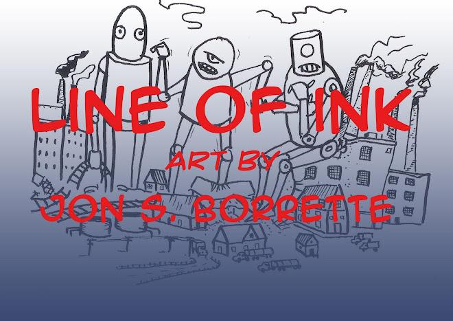 Line of Ink    Art by Jon S. Borrette
