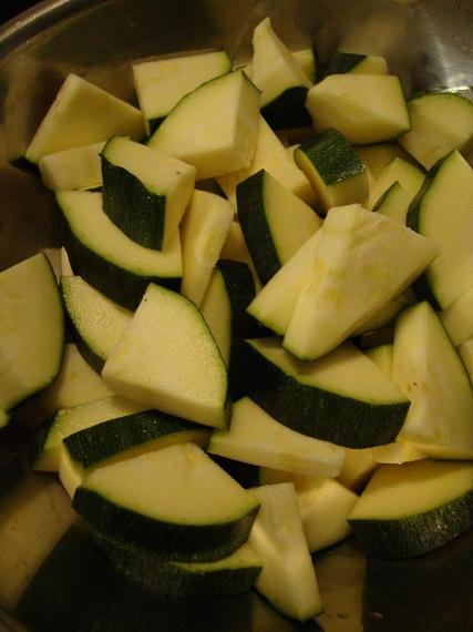 Chopped zucchini