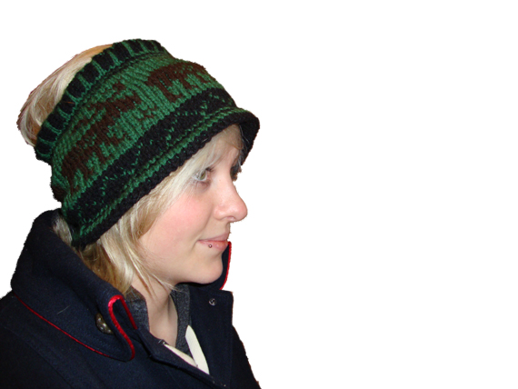 handknit moose hat