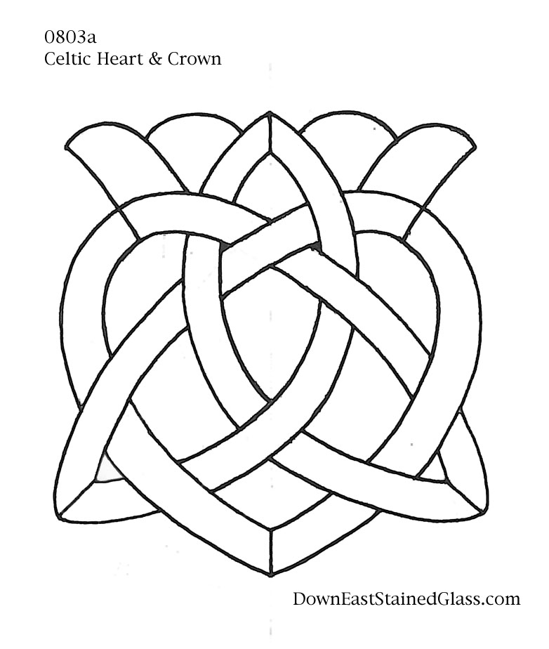 simple stained glass coloring pages - photo#35