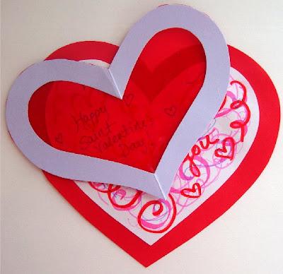St Valentine Craft and Card – Make Valentine Card Online