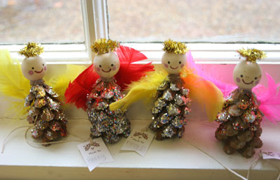 Cute Angel Craft With Peppermints