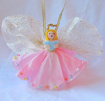 love this beautiful Angel Ornament from Crafts By Amanda .