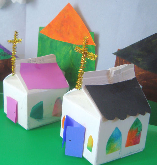 Catholic icing craft a church tithing bank for kids for Make a piggy bank craft