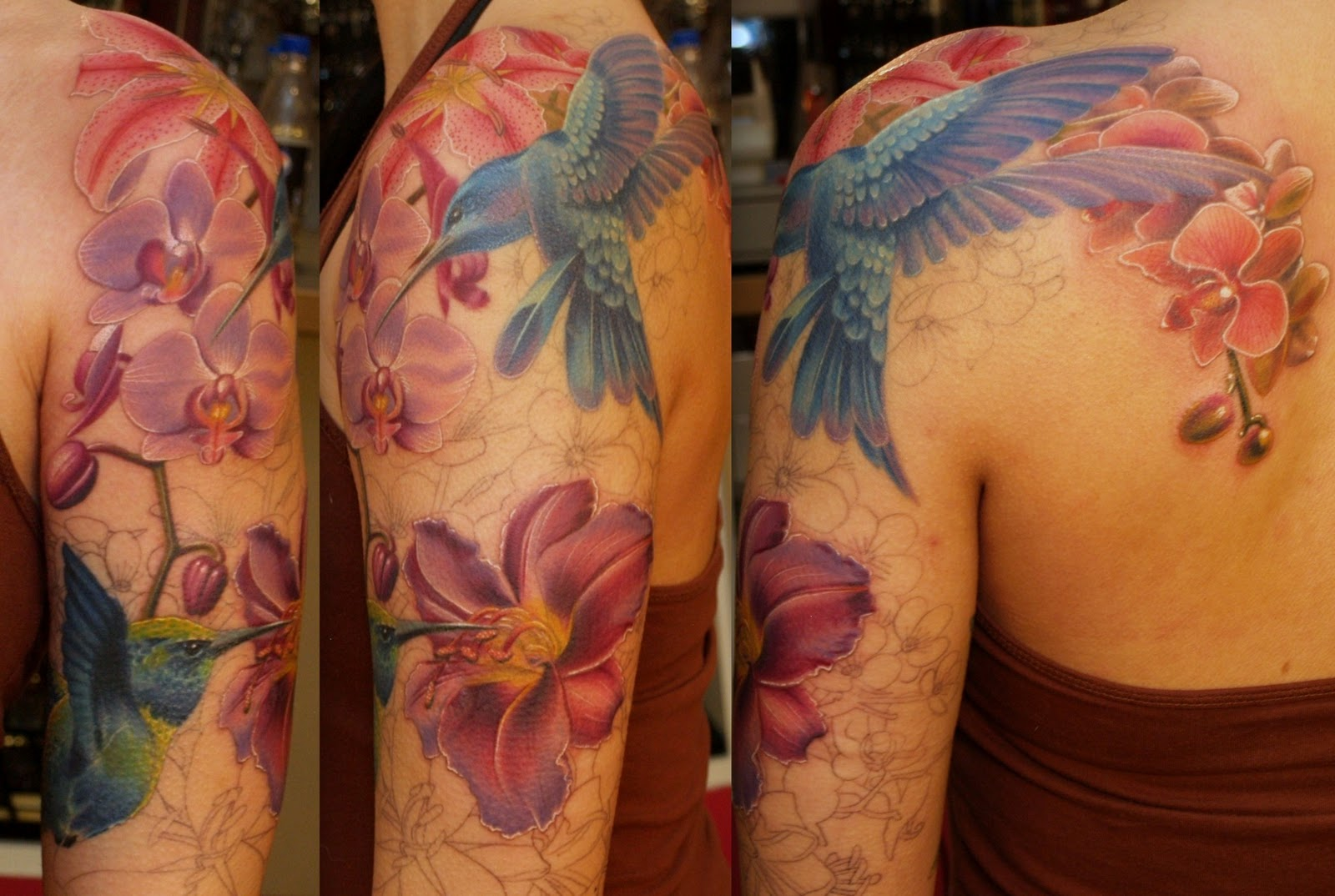 sleeve tattoos floral - photo #16