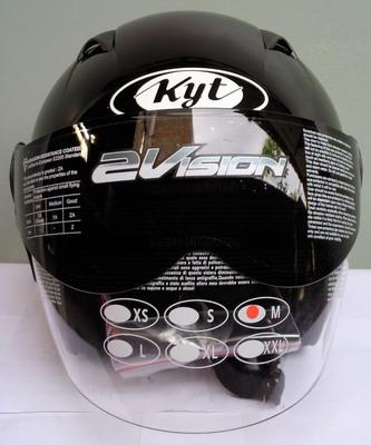 Helm KYT 2 Vision Black Solid