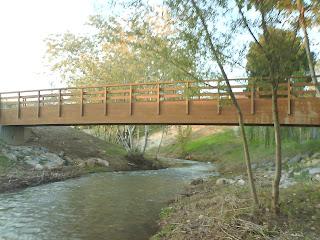 puente de madera fuente de la junquera Zaragoza