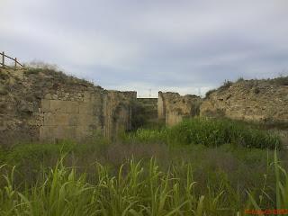 restos ruinas esclusas de Torrecilla de Valmadrid