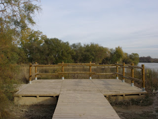 Mirador desembocadura río Gállego Zaragoza