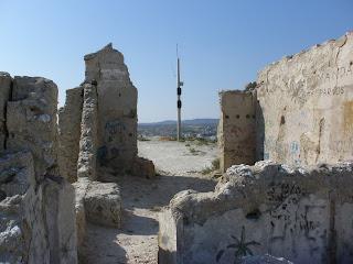 restos ermita de Santa Barbara Valdespartera Zaragoza