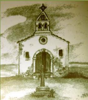 dibujo ermita de Santa Barbara Valdespartera Zaragoza