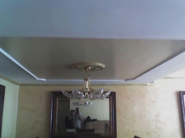 techo en textura con baqueton en yeso