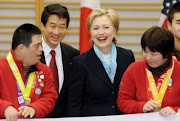 Olympic Athletes with Hillary in Tokyo