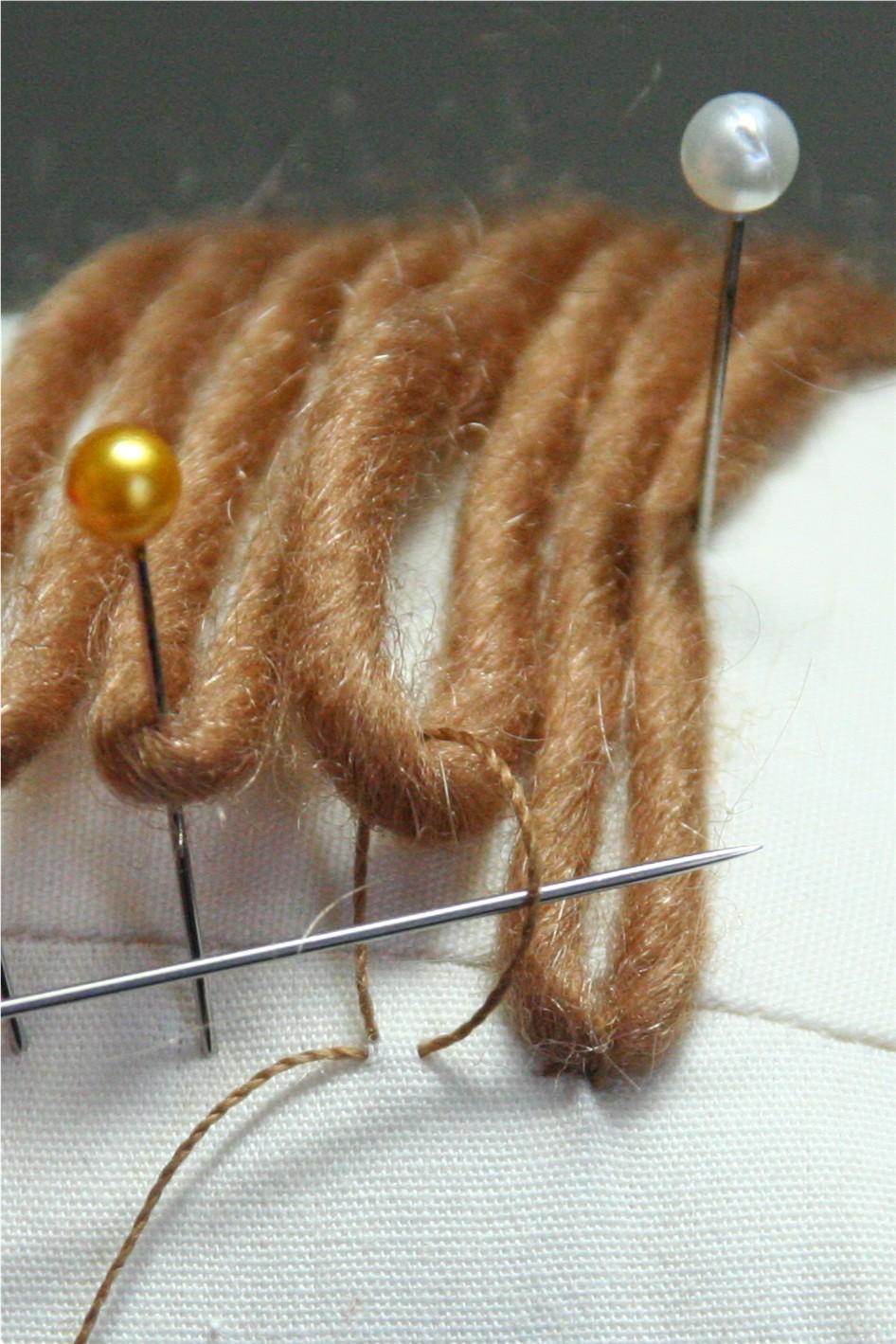 Как сделать кукле волосы из нейлона