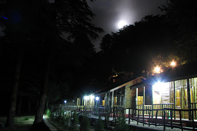 Full moon night at the Dhanaulti forest cottages