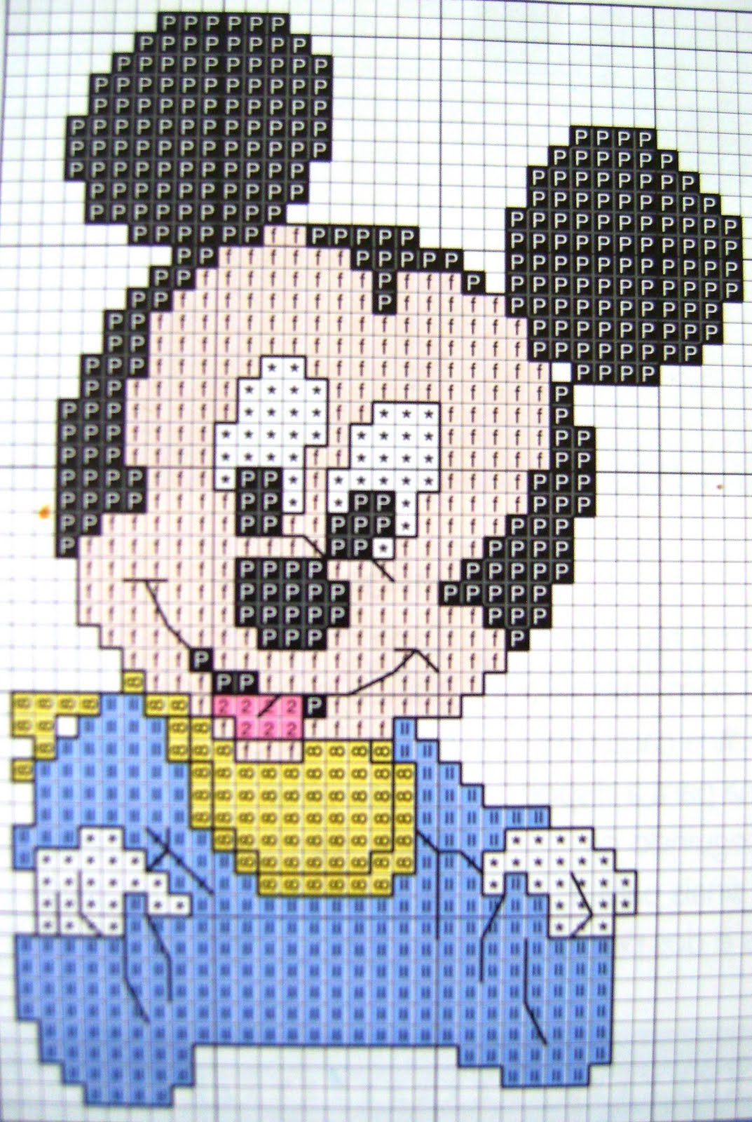 Baby Disney Ponto Cruz
