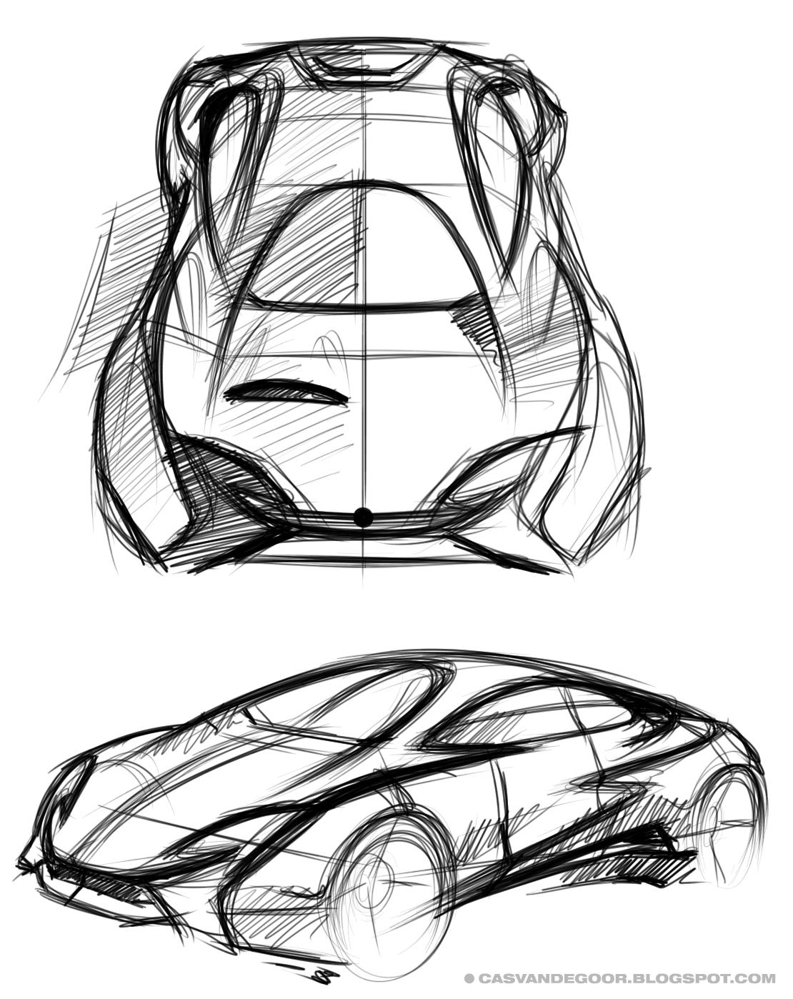 Cas Van De Goor Design Supercar Sketches