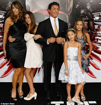 sylvester stallone makeups. Sylvester Stallone and Family