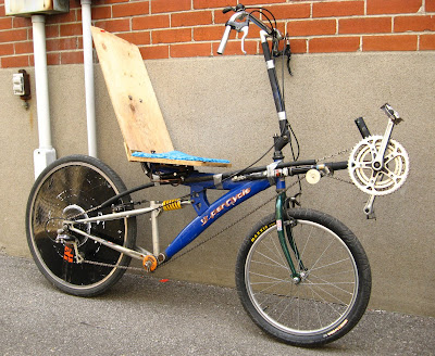 how to build a recumbent bike
