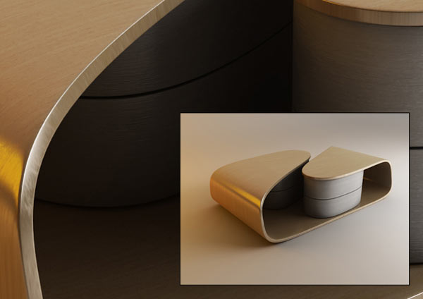 Rotating Drawers Design by Nenad Kostadinov