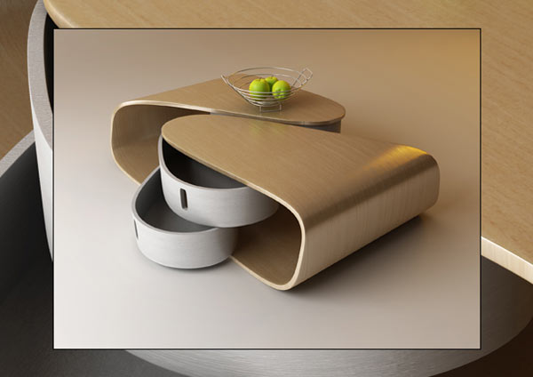 Rotating Drawers Design by Nenad Kostadinov