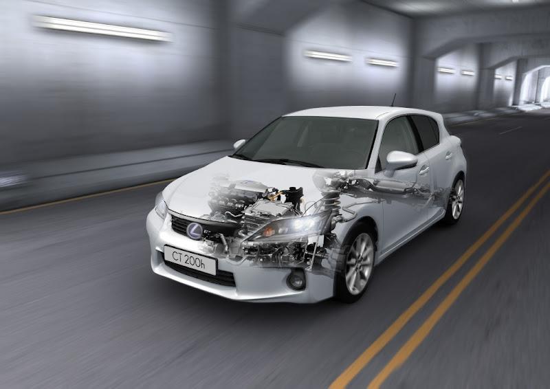 CT 200h's Lexus Hybrid Drive Interior