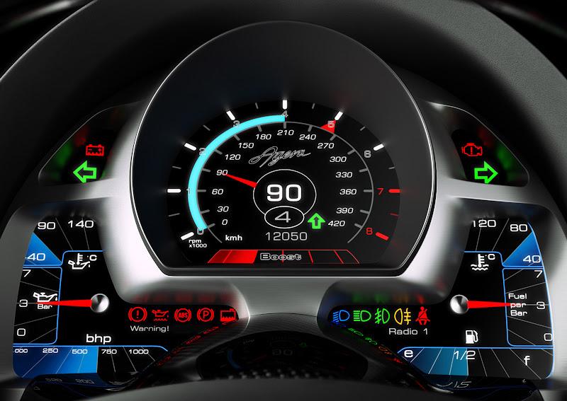 Koenigsegg Agera 2010 Indicator Gauge Custom