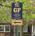 GF parking sign