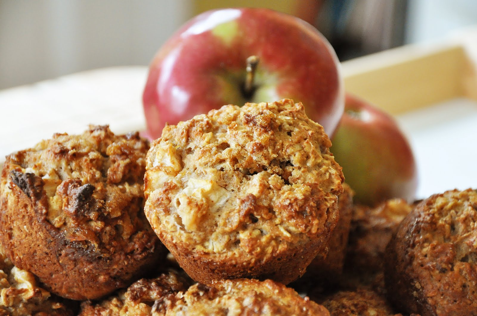 Whole Wheat Apple Muffins — Living Lou