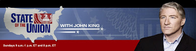John King CNN State of the Union Banner February 15, 2009