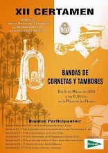 XII CERTAMEN DE BANDAS DE CORNETAS Y TAMBORES