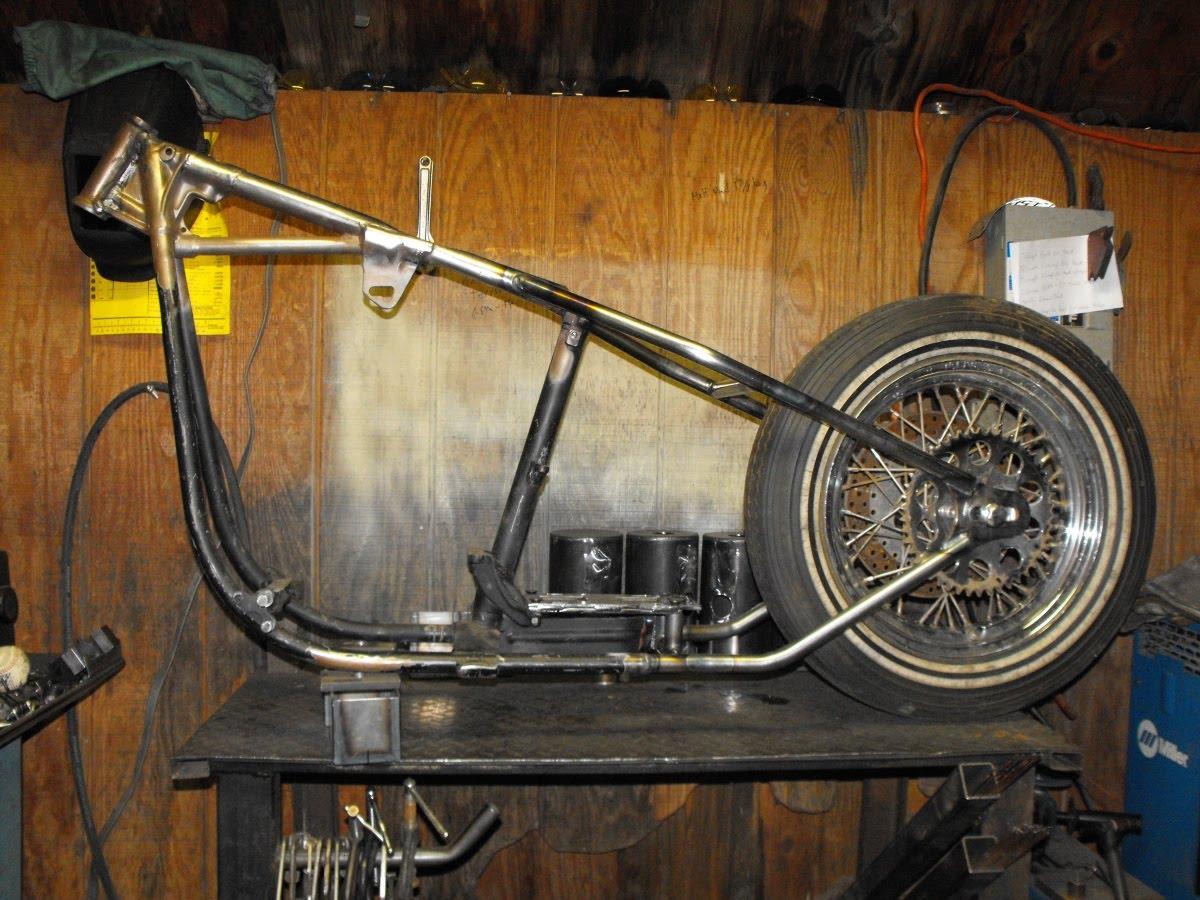 Elswick Cycles: Shovelhead Swingarm Frame Hardtail Conversion