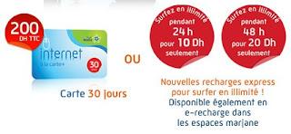 la carte de recharge internet du modem LG LDU-1900D et LG LDU-800 de WANA