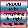 proud to be everything the right wing hates.