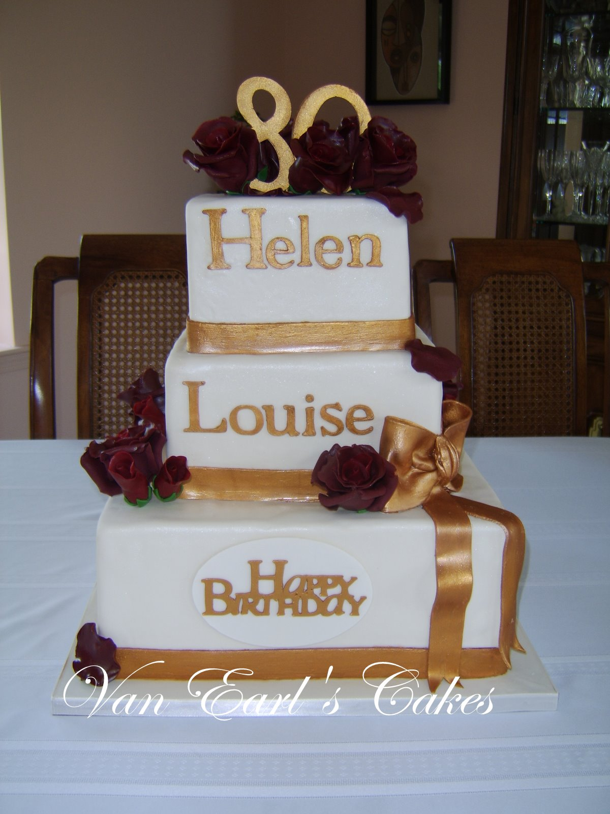 Van Earls Cakes 80th Birthday Cake