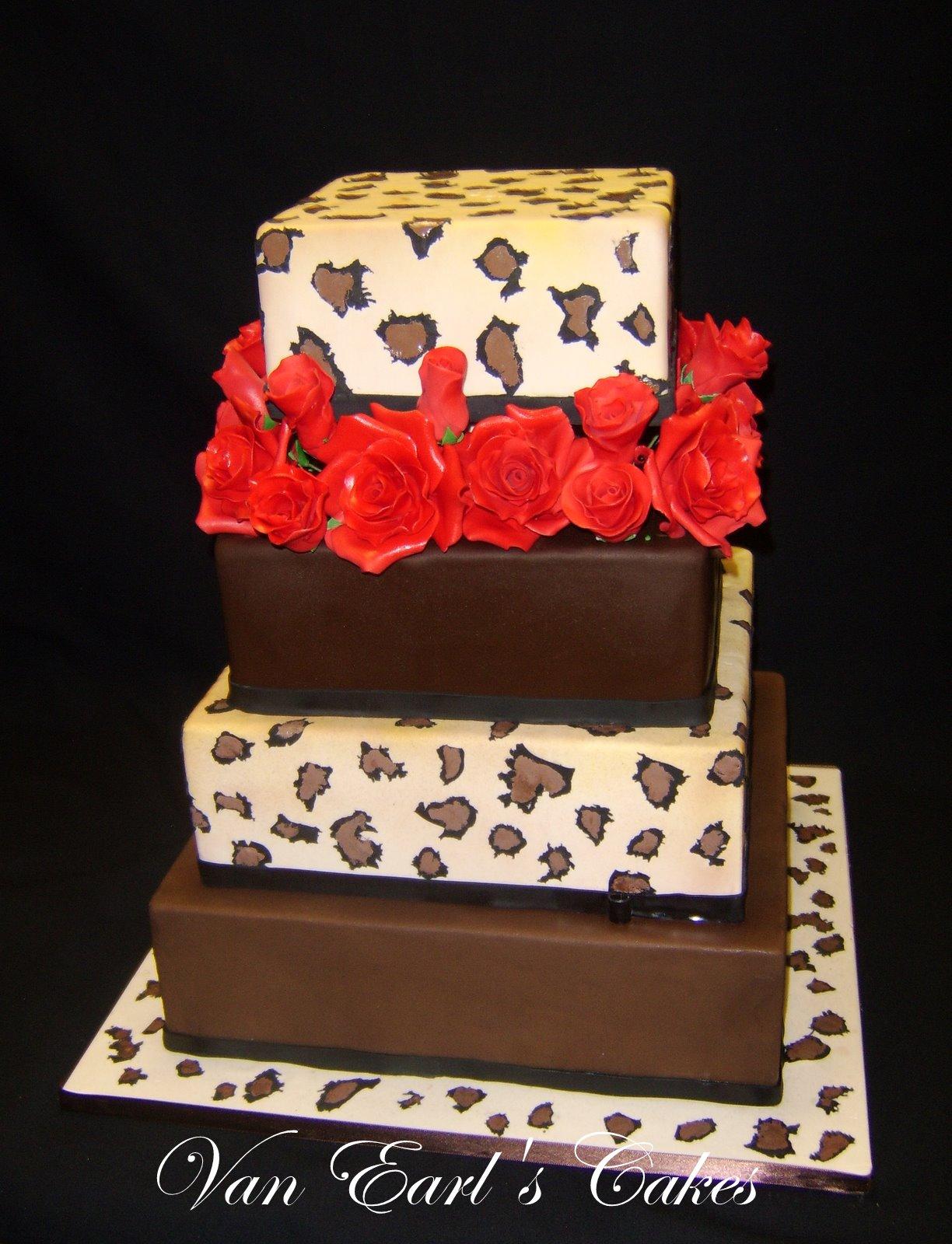 van earls cakes leopard print wedding cake